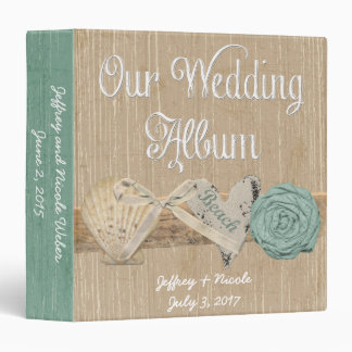 Summer Spring Beach Wedding Photo Album 3 Ring Binders