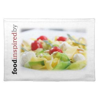 Summer squash 'pasta' placemat