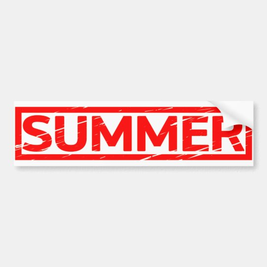 Summer Stamp Bumper Sticker