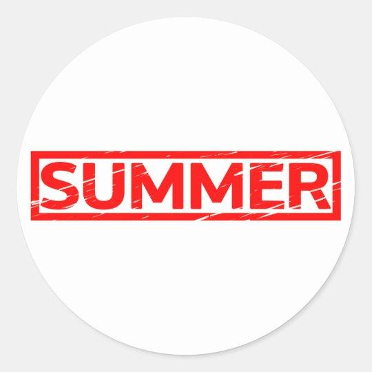 Summer Stamp Classic Round Sticker