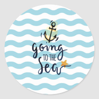 Summer Sticker with beautiful sea elements