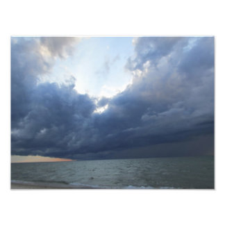 Summer storm coming off Lake Michigan Photo Print