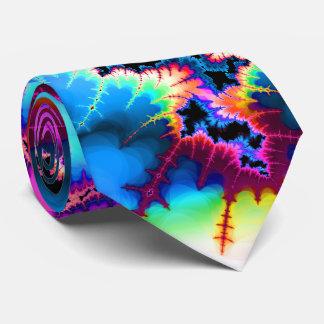 Summer Storm Fractal Tie