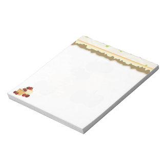 Summer Strawberries And Cupcakes Art Notepad