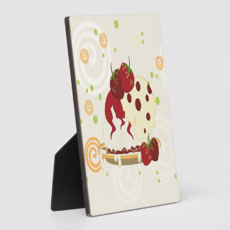 Summer Strawberries And Ice Cream Art Plaque