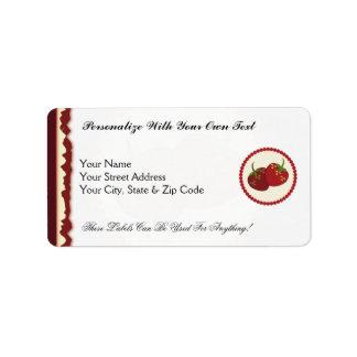 Summer Strawberry Cream Pie Art Label