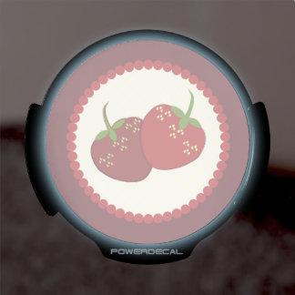 Summer Strawberry Cream Pie Art LED Window Decal