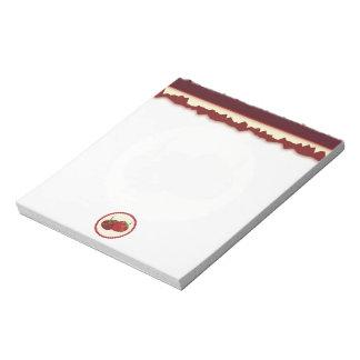 Summer Strawberry Cream Pie Art Notepad