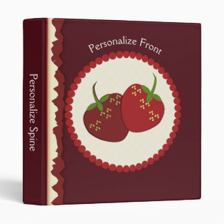 Summer Strawberry Cream Pie Art Vinyl Binders