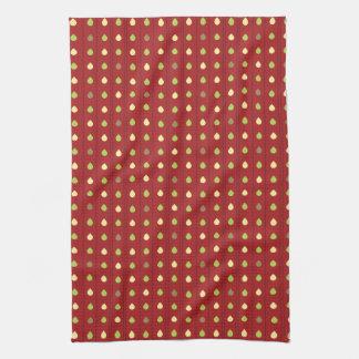 Summer Strawberry Seeds Pattern Hand Towel