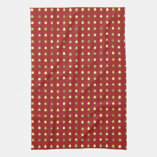 Summer Strawberry Seeds Pattern Kitchen Towel
