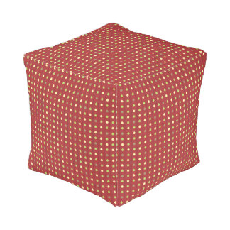 Summer Strawberry Seeds Pattern Pouf
