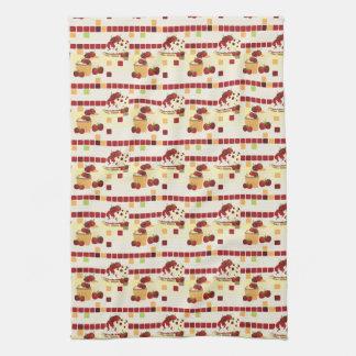 Summer Strawberry Sweet Treats Pattern Kitchen Towel