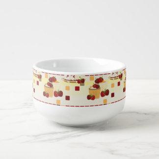 Summer Strawberry Sweet Treats Pattern Soup Mug