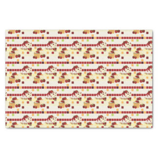 Summer Strawberry Sweet Treats Pattern Tissue Paper