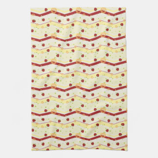 Summer Strawberry Swirl Chevron Pattern Towels