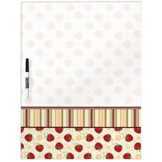 Summer Strawberry Swirl Pattern With Border Dry Erase Boards