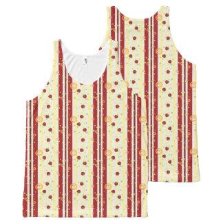 Summer Strawberry Swirl Stripes Pattern