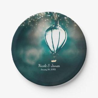 Summer String Lights Enchanted Wedding Reception 7 Inch Paper Plate
