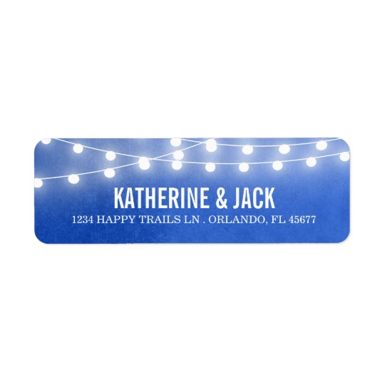 Summer String Lights Wedding Address Labels