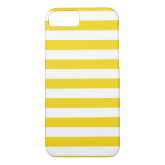 Summer Stripes Super Lemon Yellow iPhone 7 case