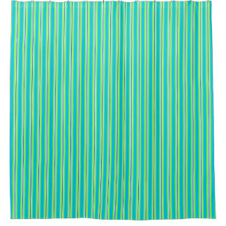 Summer stripes - turquoise and lime green