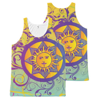 summer sun All-Over-Print tank top