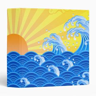 Summer Sun Summer Waves 3 Ring Binder