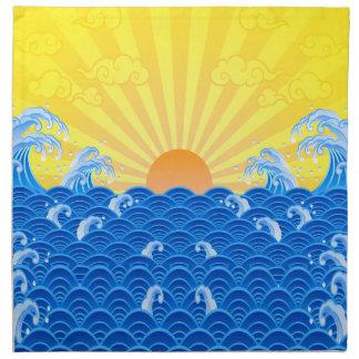 Summer Sun Summer Waves Napkin