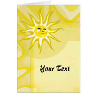 Summer Sun, Sunny Sunshine Custom Greeting Card