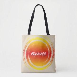Summer Sun Swirling Orange Yellow Circle Tote Bag