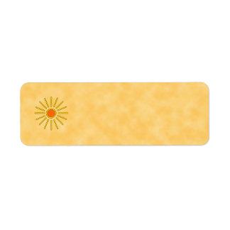 Summer sun. Warm yellow colors.