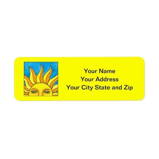 Summer Sun - Yellow Address Labels