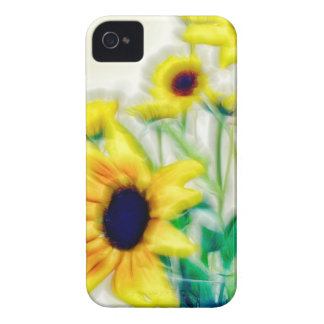 Summer Sunflower and Strawflower Bouquet iPhone 4 Case-Mate Cases