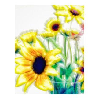 Summer Sunflower and Strawflower Bouquet Letterhead