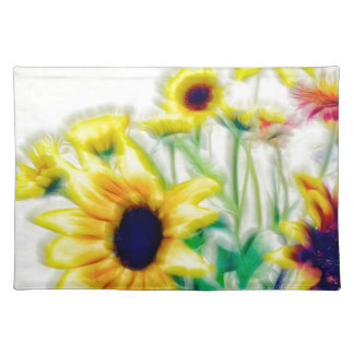 Summer Sunflower and Strawflower Bouquet Placemat