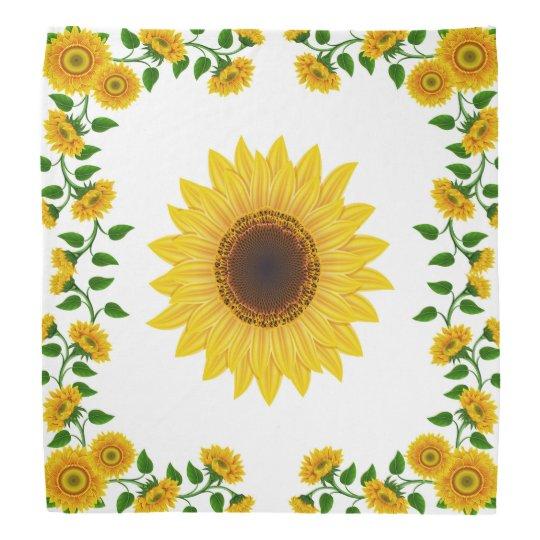Summer Sunflower Scarf Bandanna