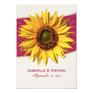Summer Sunflower Wedding Card