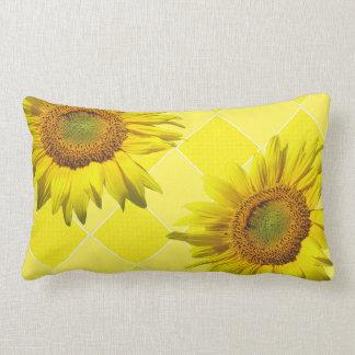 Summer Sunflower Yellow Pattern Lumbar Pillow