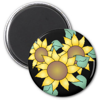 SUMMER SUNFLOWERS by SHARON SHARPE Magnet