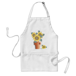 SUMMER SUNFLOWERS by SHARON SHARPE Standard Apron