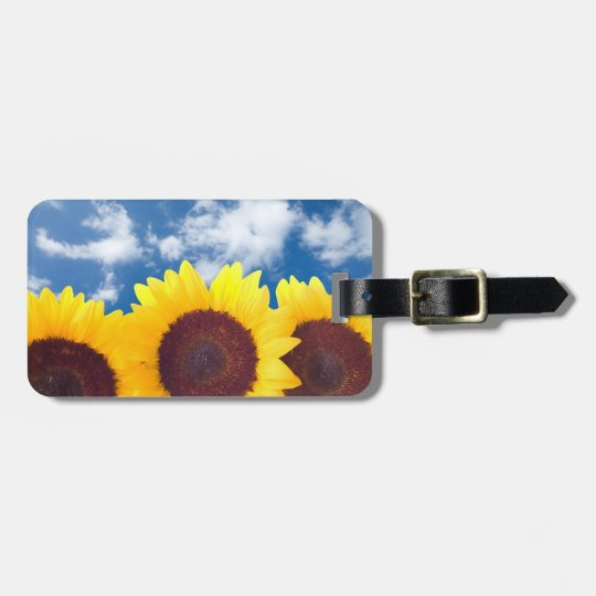 Summer Sunflowers Luggage Tag