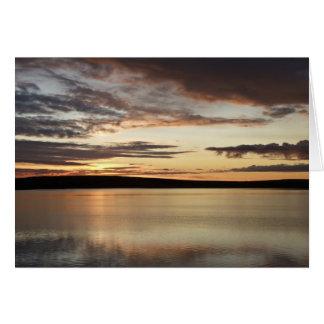 Summer Sunrise on Toolik Lake in Alaska Card