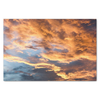 Summer sunset and clouds tissue paper