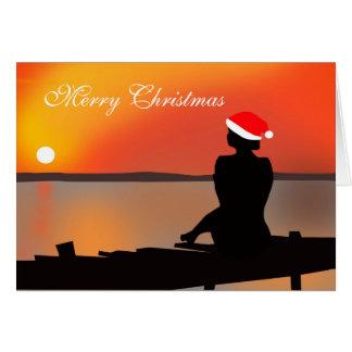 Summer Sunset Christmas Card