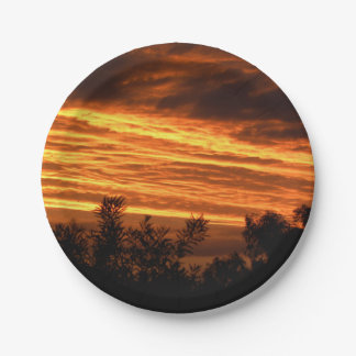 Summer sunset in Canberra 7 Inch Paper Plate