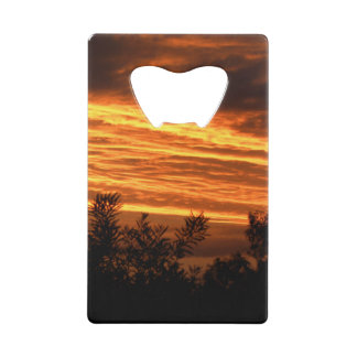 Summer Sunset in Canberra double-sided Wallet Bottle Opener