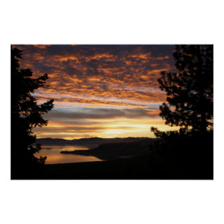 Summer Sunset in Tahoe Poster