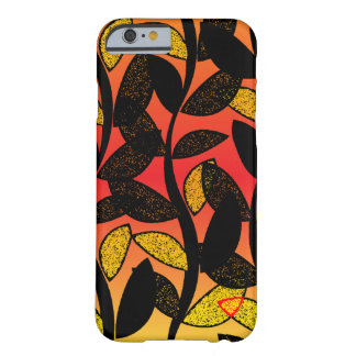Summer Sunset Leaves Silhouette Barely There iPhone 6 Case