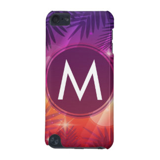 Summer Sunset Palm Trees Monogram Purple Orange iPod Touch (5th Generation) Covers